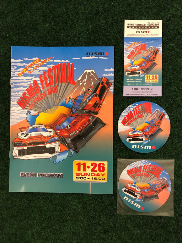 NISMO FESTIVAL 2000 Event Program, Ticket & Stickers Set