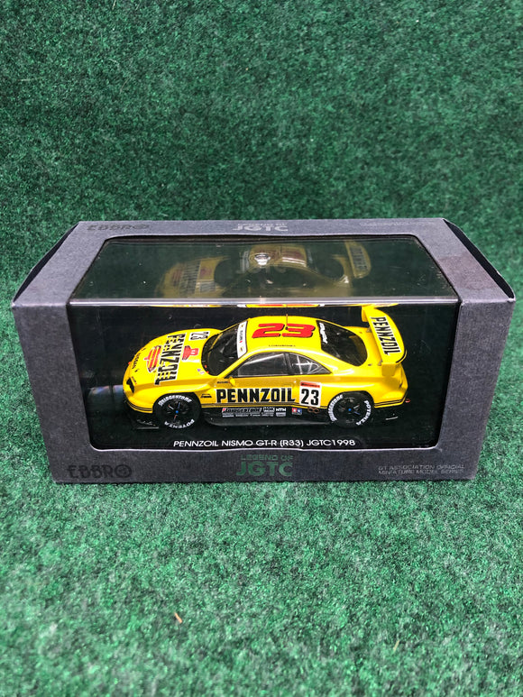 EBBRO Legends of JGTC Pennzoil Nissan Skyline R33 GTR 1/43 Diecast