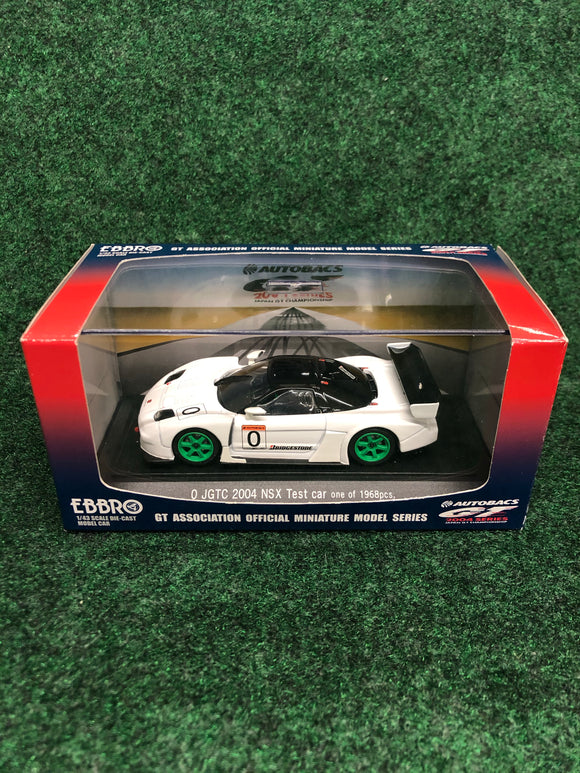 EBBRO JGTC 2004 Honda NSX Test Car 1 of 1968 1/43 Diecast