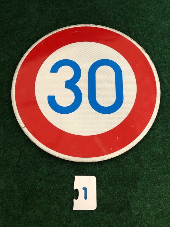 Maximum Speed 30 Road Sign Small Genuine Small - Used