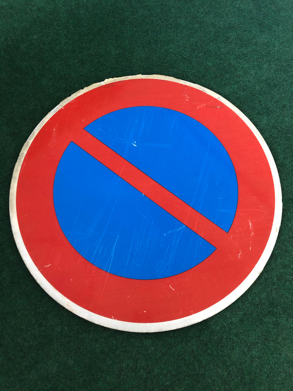 No Parking Red/Blue Large Road Sign Genuine - Used