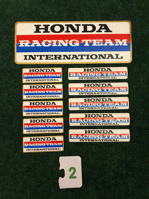 Honda Racing Team International Stickers Set of 11 - #2