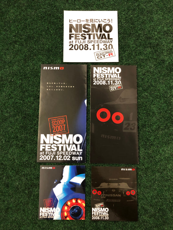 NISMO FESTIVAL 2007 & 2008 Sticker & Event Flyer Set