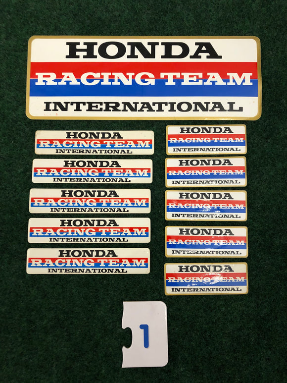 Honda Racing Team International Stickers Set of 11 - #1