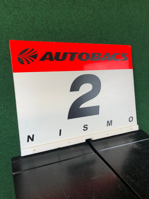 Nismo #2 Autobacs JGTC Race Day Grid Board Sign