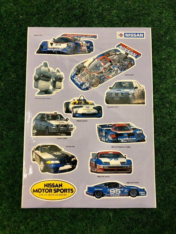 Nissan Motorsports NISMO Race Car Sticker Sheet