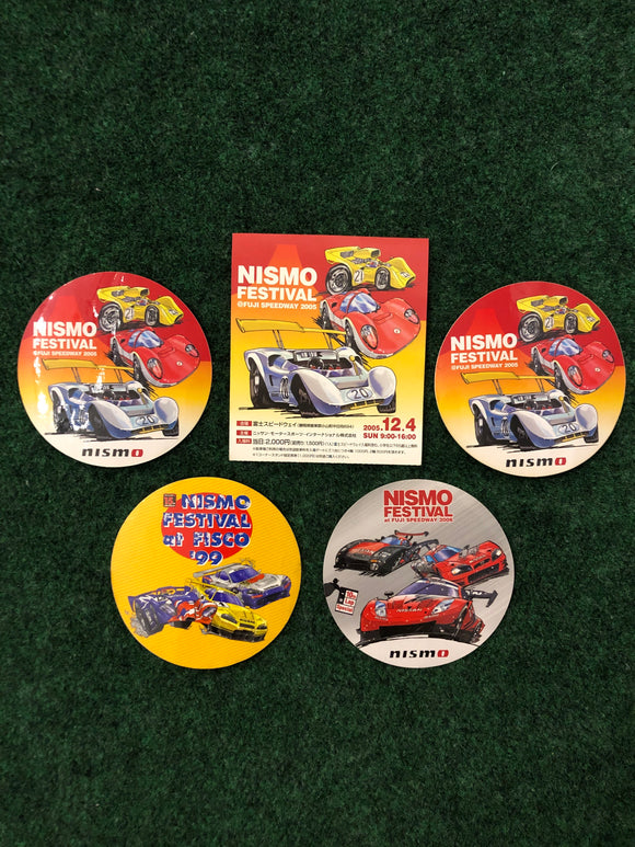 NISMO FESTIVAL 2006, 2005, 1999 Sticker Set of 5