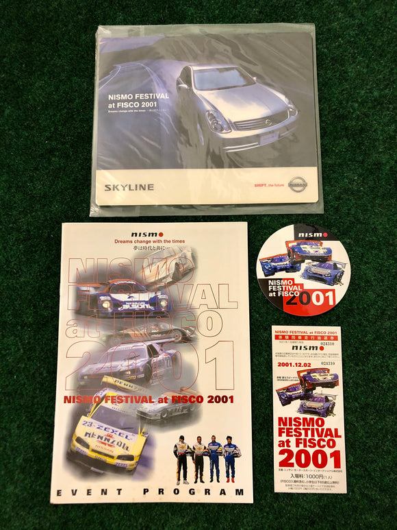 NISMO FESTIVAL at FISCO 2001 Event Program, Sticker, Ticket Set