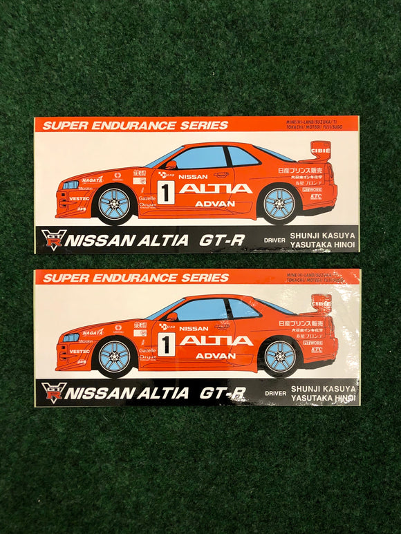 ALTIA Nissan Skyline R34 GTR Super N1 Endurance Series Sticker Set of 2