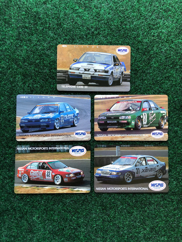 Nissan NISMO Prepaid Japan Telephone Card Set of 5 -  Bluebird, Sunny, Primera