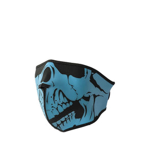 Neoprene Half Face Skull Riding Mask