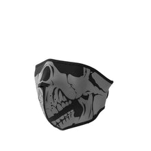 Load image into Gallery viewer, Neoprene Half Face Skull Riding Mask