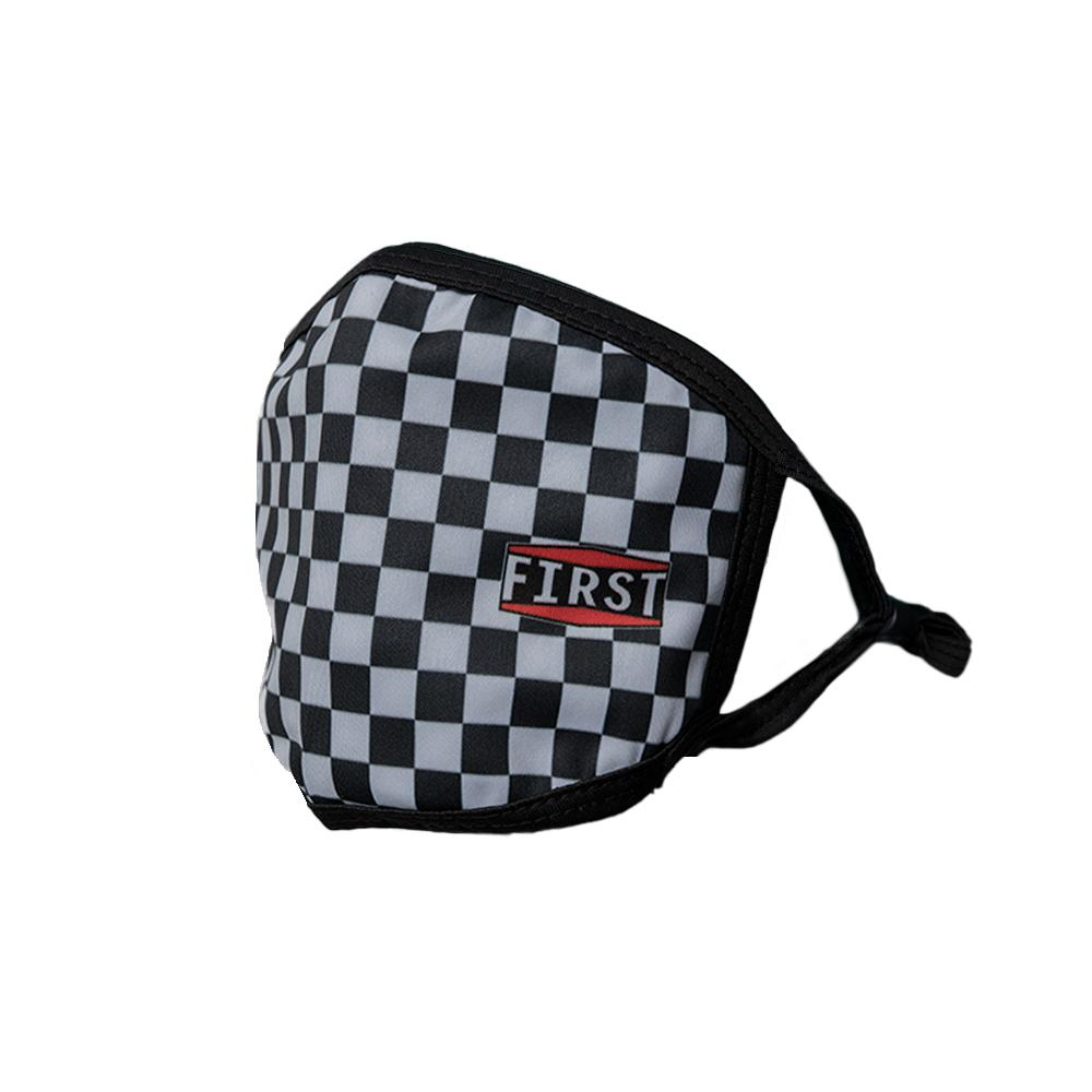 Black & Gray Checkerboard Face Mask (5pcs pack)
