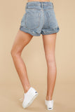 4 Tell Me More Light Wash Distressed Denim Shorts at reddressboutique.com