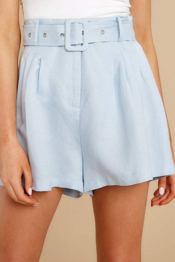 1 It's Your Fate Light Blue Shorts at reddress.com
