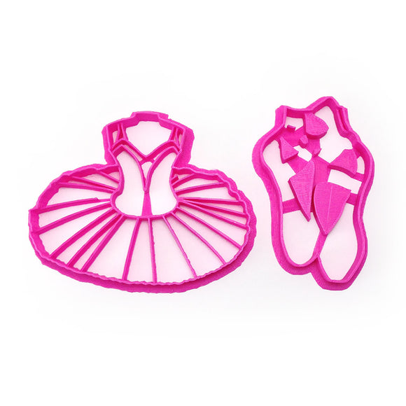 Ballet Slippers and Tutu Cookie Cutter Set