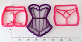 Bachelorette Party Lingerie Cookie Cutters