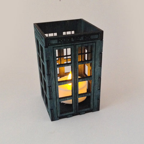 ... Doctor Who Wood Engraved Tardis Candle Holder ...