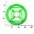 DC Comics The Green Lantern Logo Cookie Cutter