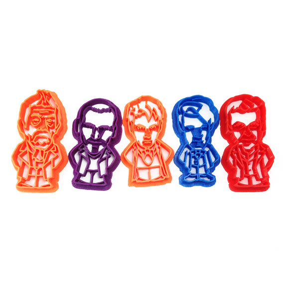 Doctor Who New-Who Doctors Cookie Cutter Set
