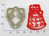 Doctor Who Cyberman and Dalek Cookie Cutter Set