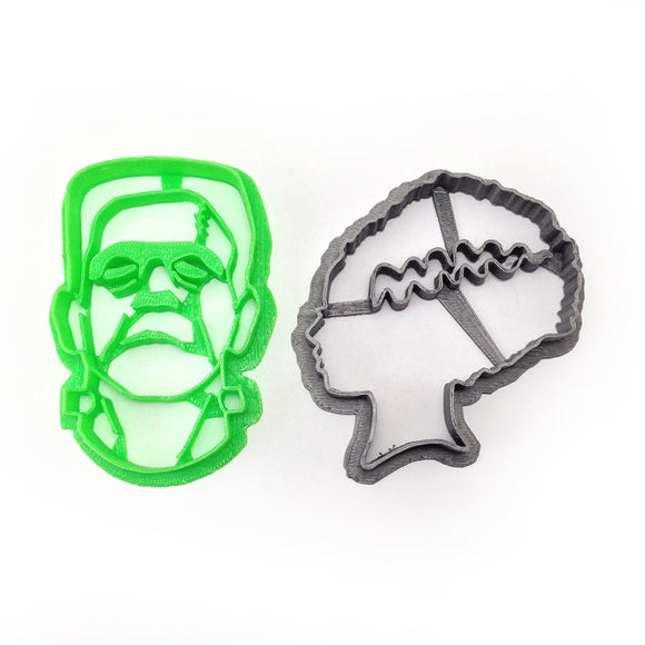 Frankenstein's Monster and his Bride Cookie Cutter