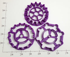 Gears - 3 Variation Set of Cookie Cutters