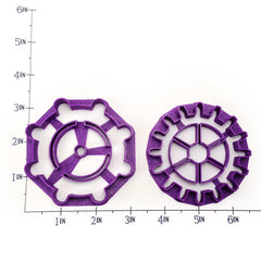 Gears - 2 Variation Set of Cookie Cutters