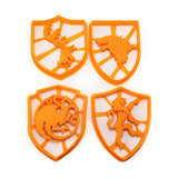 Game of Thrones 4 Sigil Cookie Cutter Set