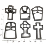 Gravestones Cookie Cutter Set