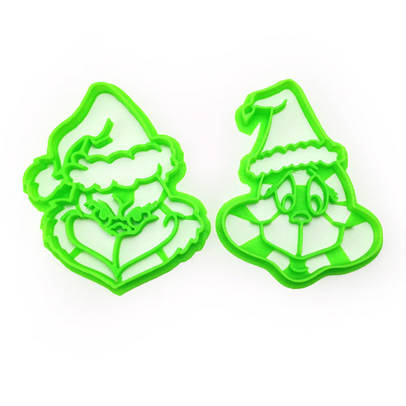 How the Grinch Stole Christmas Two Cookie Cutter Set