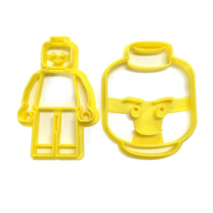 Lego Mini-Fig and Minifig Head Cookie Cutter Set