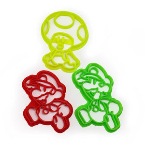 Paper Mario  Luigi and Toad Cookie Cutter Set
