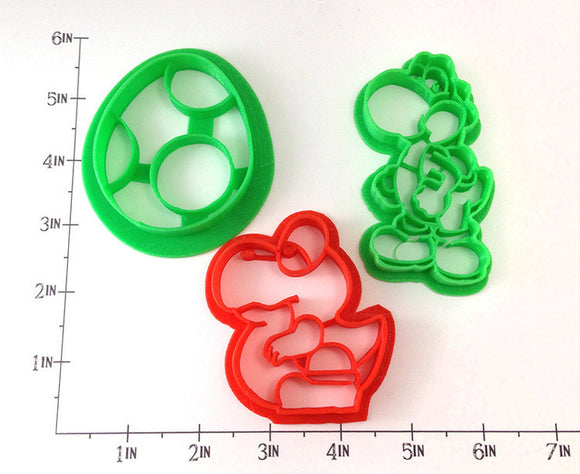 Super Mario Yoshi Cookie Cutter Set