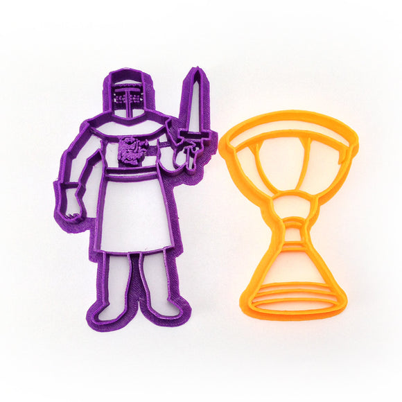 Monty Python Holy Grail and Black Knight Cookie Cutters Set