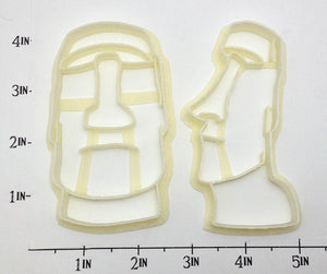 Easter Island Moai Statue Cookie Cutter Set