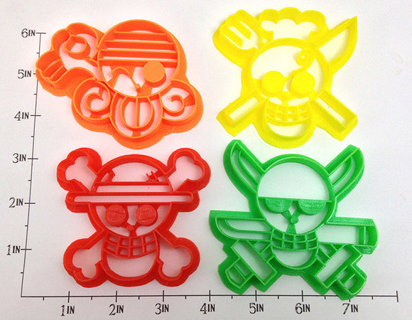 One Piece Flag Jolly Roger Cookie Cutter Set