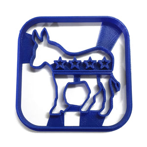 Political Logo - Democrat Donkey Cookie Cutter
