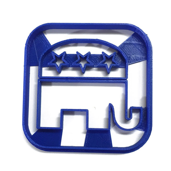 Political Logo - Republican Elephant Cookie Cutter