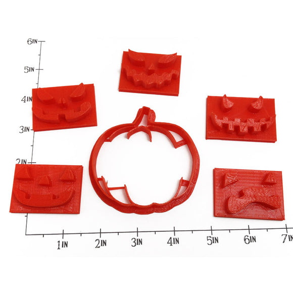 Pumpkin Jack-o-Lantern Cookie Cutter Set