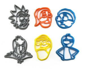 Rick and Morty Cookie Cutter Set