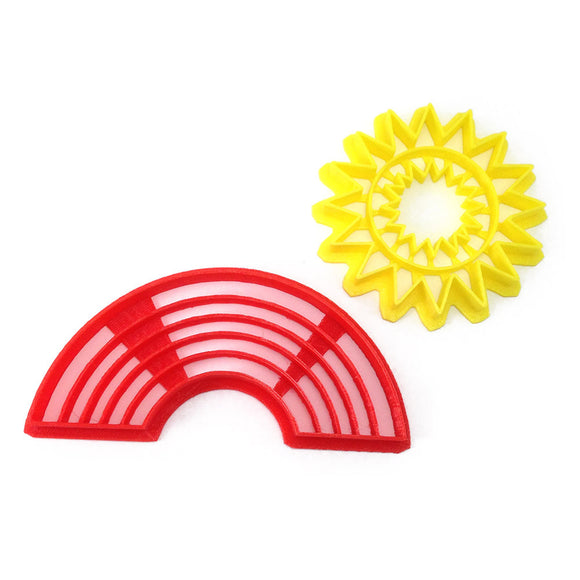 Reading Rainbow Sunburst and Rainbow Cookie Cutter Set