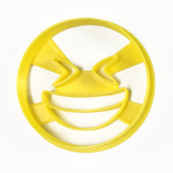 Emoji Big Smile Squinty Eyes Cookie Cutter
