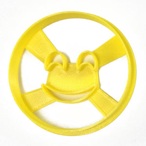 Emoji Closed Eyes Smile Cookie Cutter