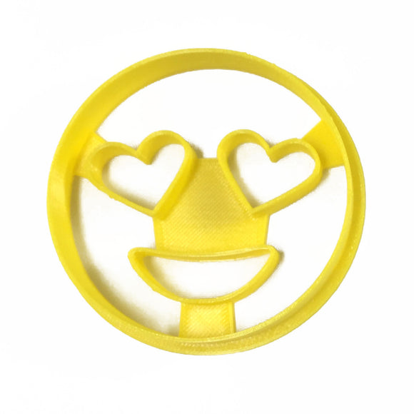 Emoji Heart Eyes Cookie Cutter