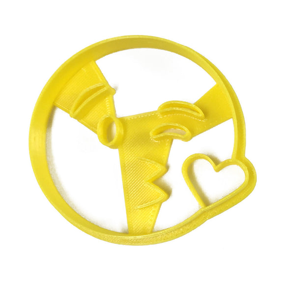 Emoji Kissy Wink with Heart Cookie Cutter