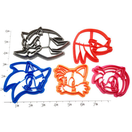 Sonic the Hedgehog Cookie Cutter Set