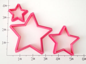 3 Sized Stars Cookie Cutter Set
