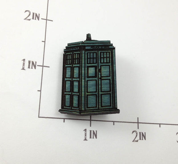 Doctor Who small etched wooden pin