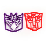 Transformers Autobot and Decepticon Cookie Cutters